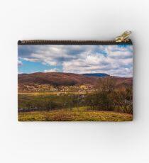 mountainous countryside in springtime Studio Pouch
