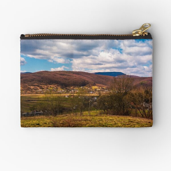 mountainous countryside in springtime Zipper Pouch
