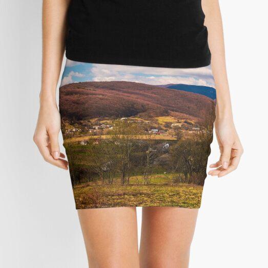 mountainous countryside in springtime Mini Skirt