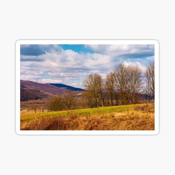orchard in mountainous rural area Sticker