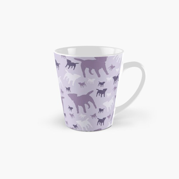 Border Terriers Gifts for Dog Lovers Shades of Lilac Silhouette Tall Mug