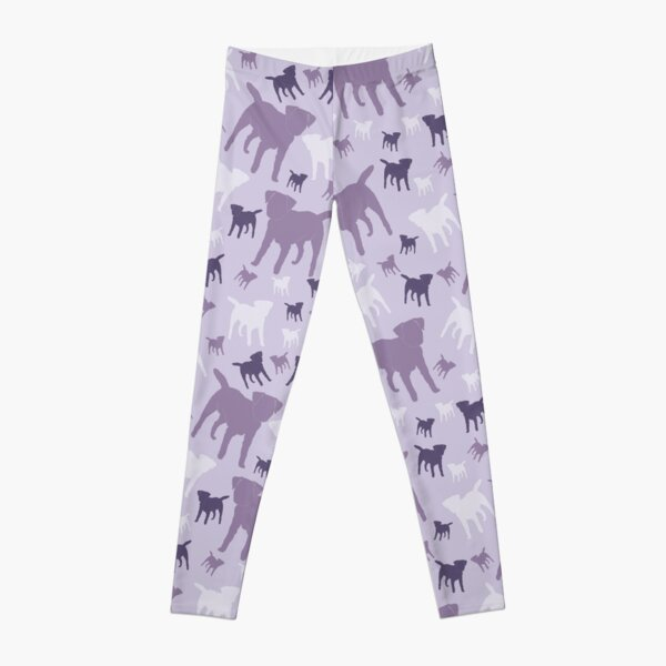 Border Terriers Gifts for Dog Lovers Shades of Lilac Silhouette Leggings