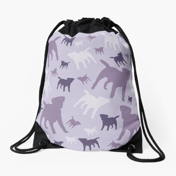 Border Terriers Gifts for Dog Lovers Shades of Lilac Silhouette Drawstring Bag