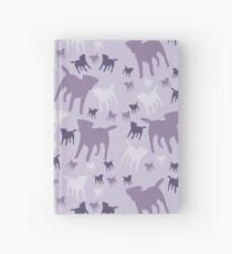 Border Terriers Gifts for Dog Lovers Shades of Lilac Silhouette Hardcover Journal