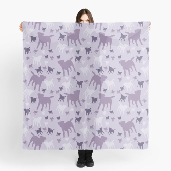 Border Terriers Gifts for Dog Lovers Shades of Lilac Silhouette Scarf