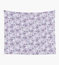 Border Terriers Gifts for Dog Lovers Shades of Lilac Silhouette Wall Tapestry