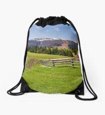 beautiful rural scenery in springtime Drawstring Bag