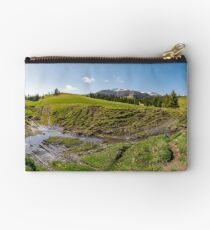 panorama of mountainous rural countryside Studio Pouch