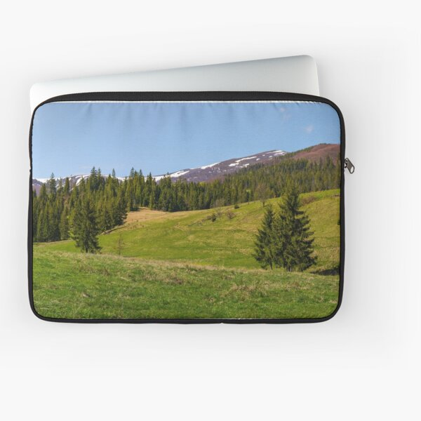 panorama of mountainous landscape in springtime Laptop Sleeve