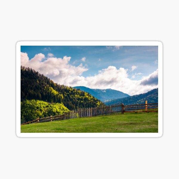 lovely rural landscape in Carpathians Sticker