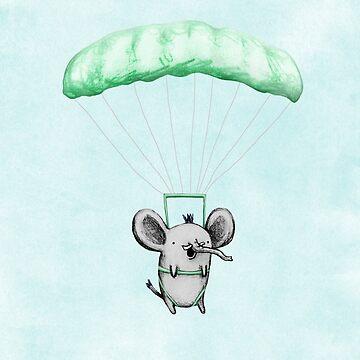 Cutie Parachuting Elephant by SophieCorrigan