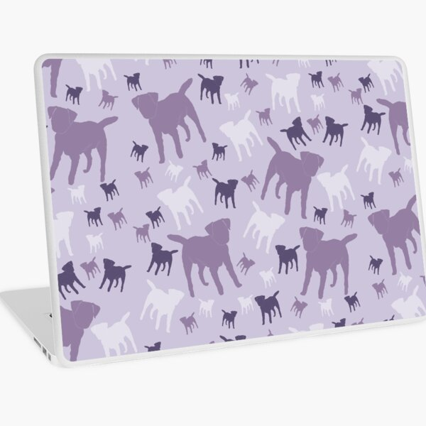 Border Terriers Gifts for Dog Lovers Shades of Lilac Silhouette Laptop Skin