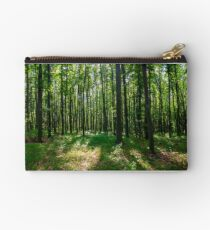 dense beech forest with tall trees Studio Pouch