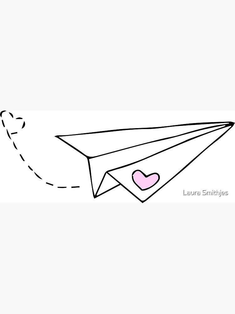 Paper Plane Cute Greeting Card By Lauras113 Redbubble