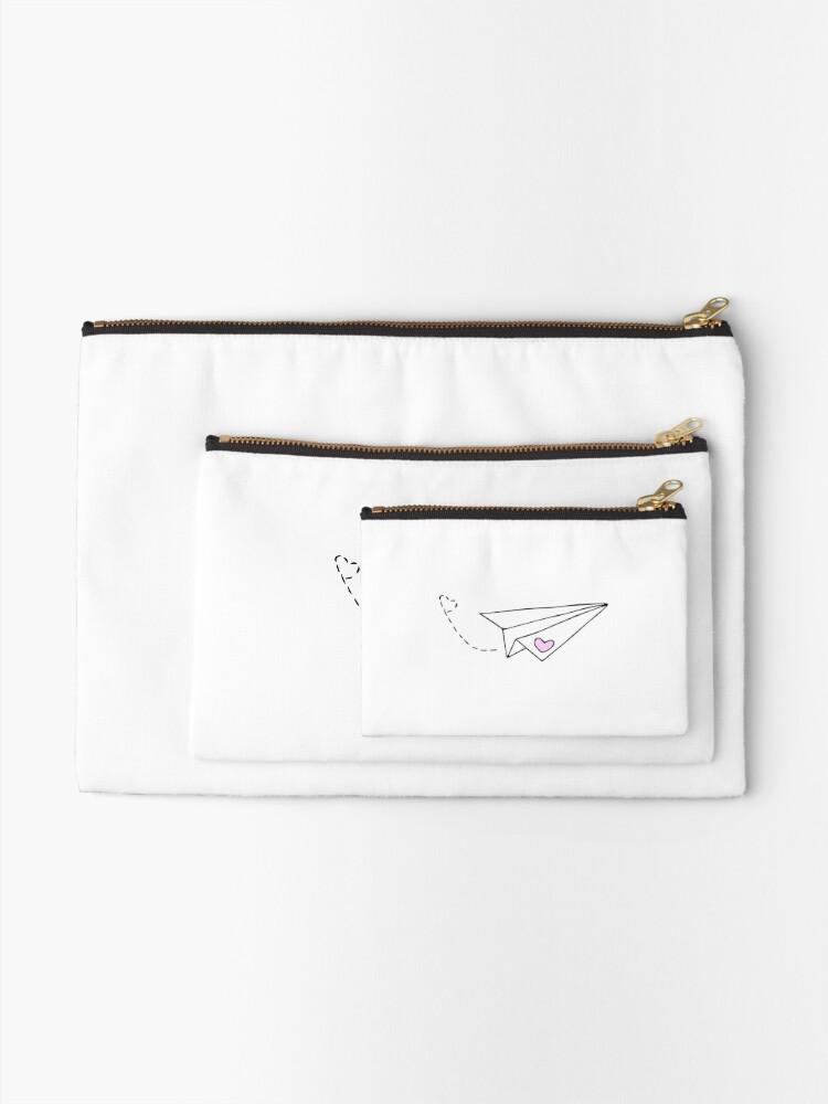 Alternate view of Paper Plane - cute Zipper Pouch