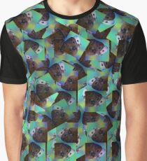 Brown And White Guinea Pig Symmetry Pattern,  Graphic T-Shirt