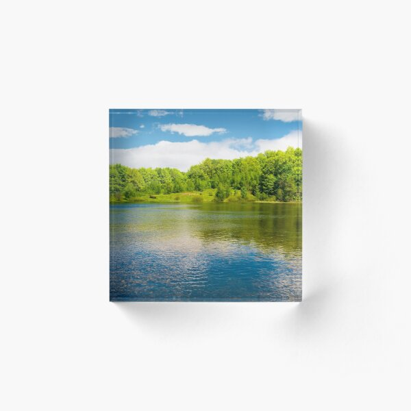 beautiful reflection of a sky in the lake Acrylic Block