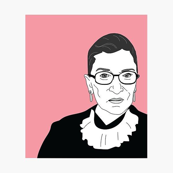 Ruth Bader Ginsburg Close-up Photographic Print