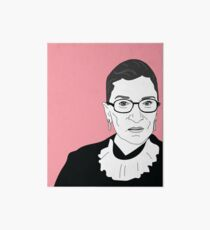 Ruth Bader Ginsburg Close-up Art Board