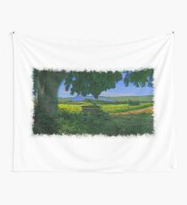 Rural area drawn Art Wall Tapestry