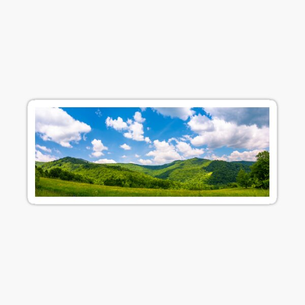 panorama of beautiful countryside in summer Sticker