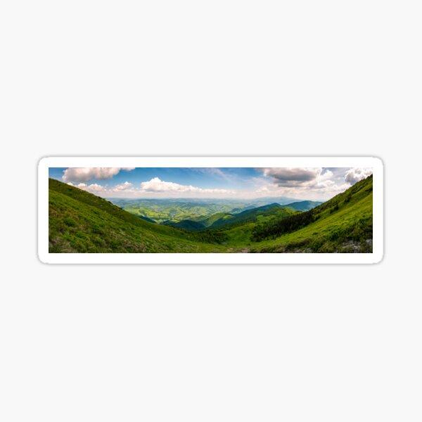 grassy slopes of Pikui mountain Sticker