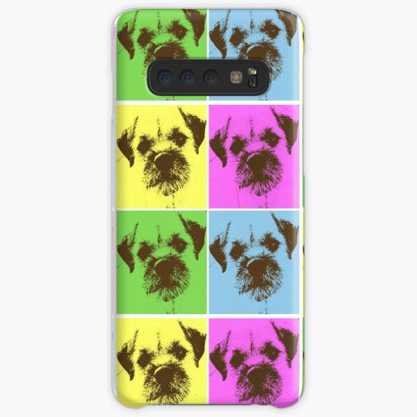 Border Terrier Gifts for Dog Lovers Andy Warhol Inspired Neon Pink, Yellow, Green, Blue Samsung Galaxy Snap Case