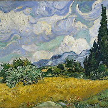 Wheat Field with Cypresses by Vincent Van Gogh by key-change