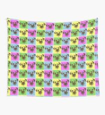Border Terrier Gifts for Dog Lovers Andy Warhol Inspired Neon Pink, Yellow, Green, Blue Wall Tapestry