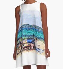 Sea drawn Art A-Line Dress