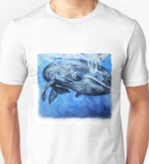 Whale in watercolor Unisex T-Shirt