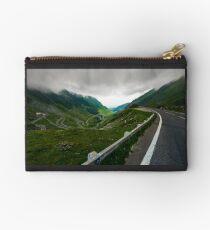 Transfagarasan road in stormy weather Studio Pouch