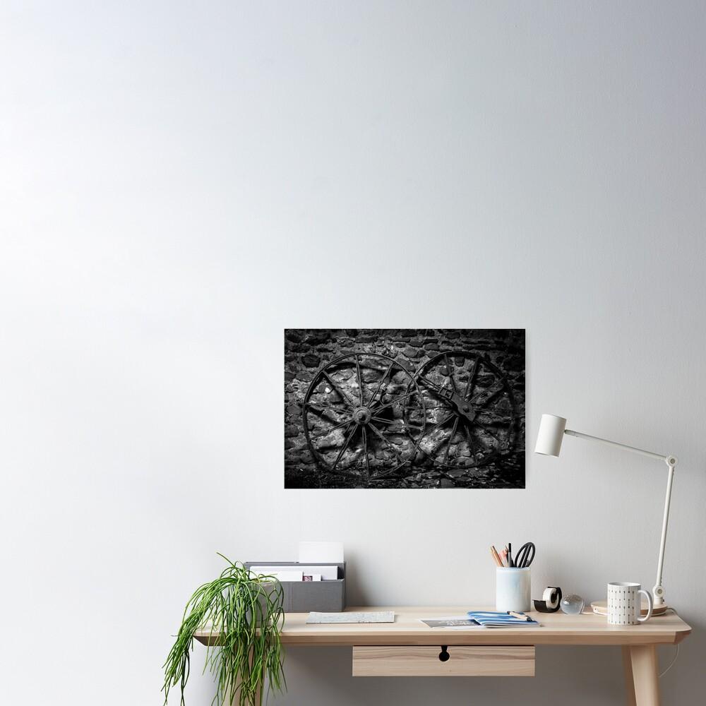 Wheels mono Poster