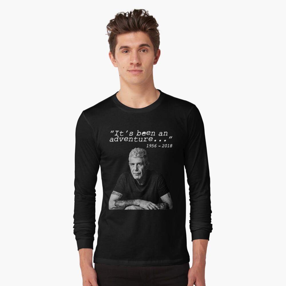 Anthony Bourdain It's been an adventure Long Sleeve T-Shirt Front