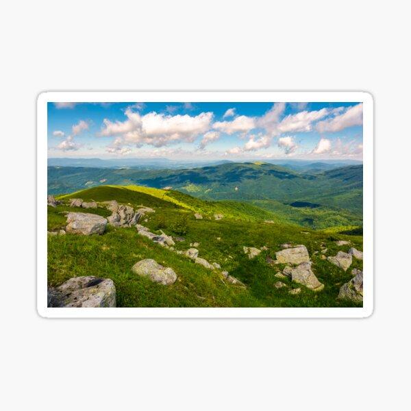 green rolling hills of Carpathian mountains Sticker