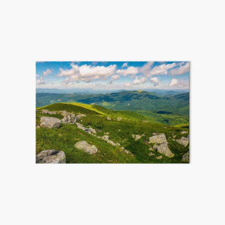 green rolling hills of Carpathian mountains Art Board Print