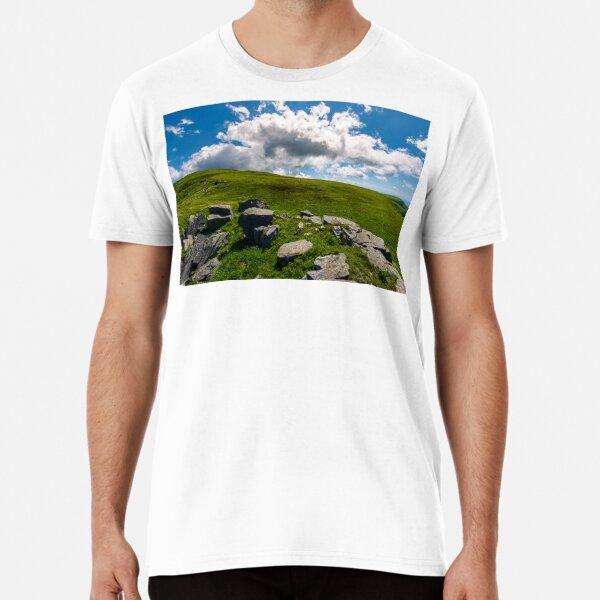 huge cloud rising behind the hill Premium T-Shirt