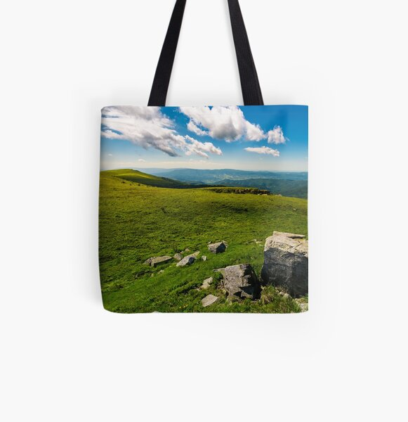 gorgeous mountain landscape on a summer day All Over Print Tote Bag