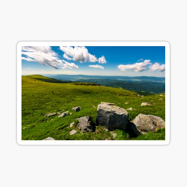 gorgeous mountain landscape on a summer day Sticker