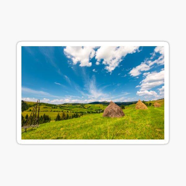 beautiful rural scenery in mountains Sticker