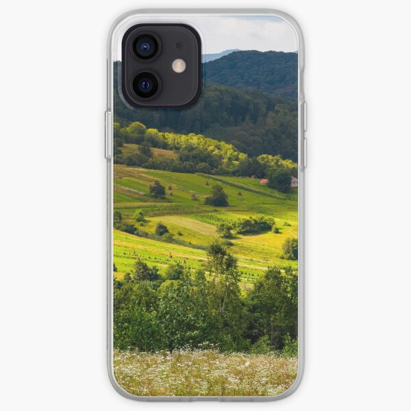 small Carpathian village in mountains iPhone Soft Case