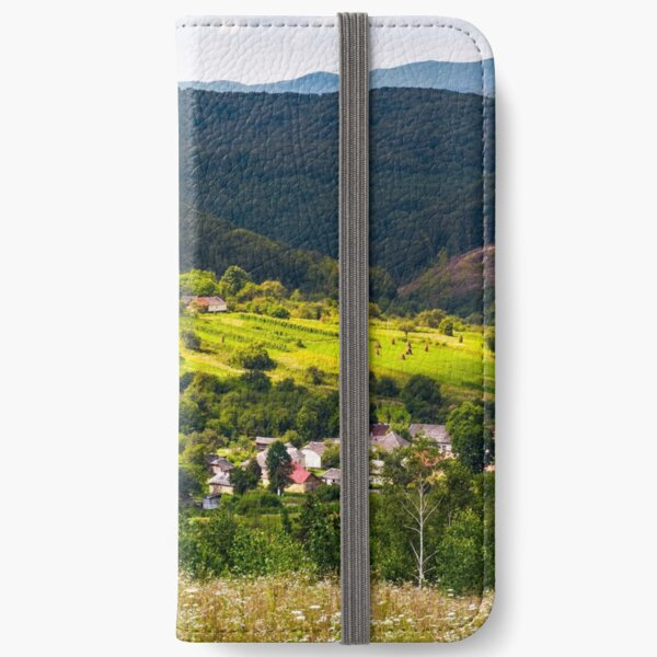 small Carpathian village in mountains iPhone Wallet