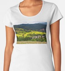 small Carpathian village in mountains Premium Scoop T-Shirt