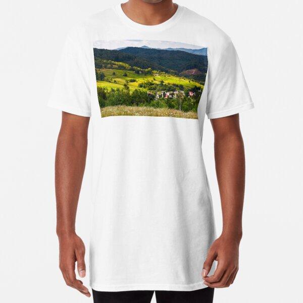 small Carpathian village in mountains Long T-Shirt