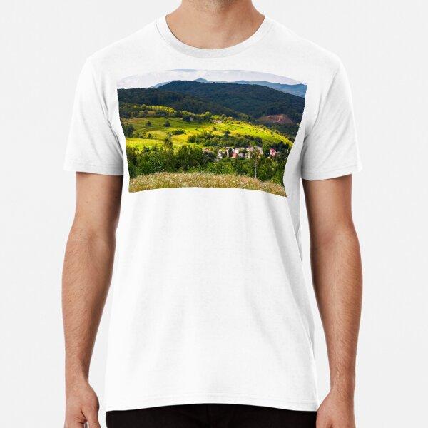 small Carpathian village in mountains Premium T-Shirt