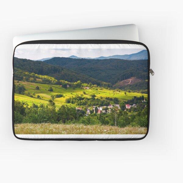 small Carpathian village in mountains Laptop Sleeve