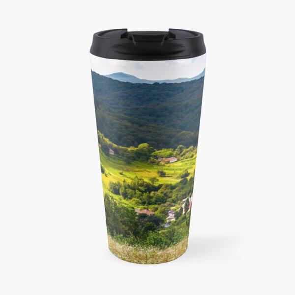 small Carpathian village in mountains Travel Mug