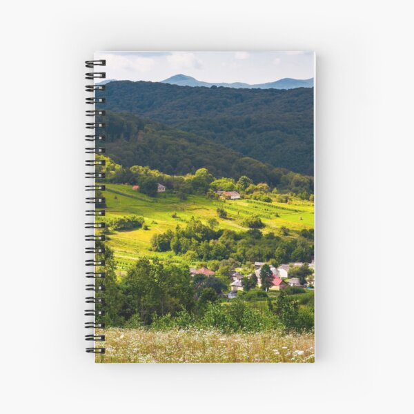 small Carpathian village in mountains Spiral Notebook