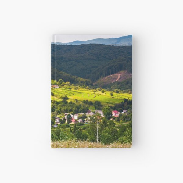 small Carpathian village in mountains Hardcover Journal