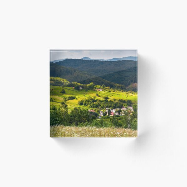 small Carpathian village in mountains Acrylic Block